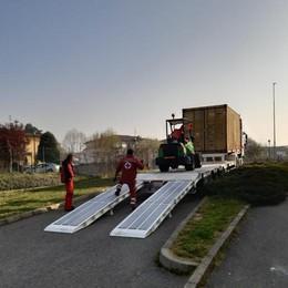 DRESANO Dalla Rsa alla Croce rossa 55 letti da degenza VIDEO