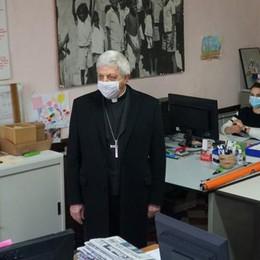 Il vescovo di Lodi in visita al Movimento per la lotta contro la fame nel mondo