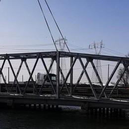 Oggi la posa del nuovo ponte di Arcagna