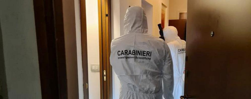 Il sopralluogo dei carabinieri di Milano