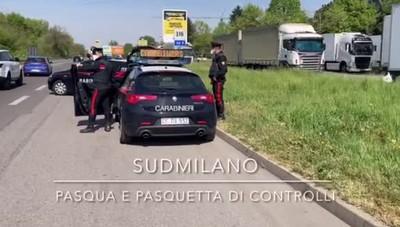 Sudmilano, controlli dei carabinieri a Pasqua e Pasquetta