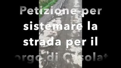 Zelo. Raccolta di firme per sistemare la strada per Casolate