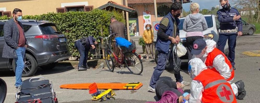 Lodi, incidente con una bici in viale Milano