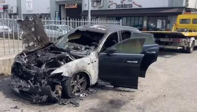 San Giuliano, Maserati distrutta dalle fiamme: forse un'attentato