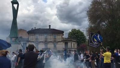 La festa dei tifosi dell'Inter a Lodi