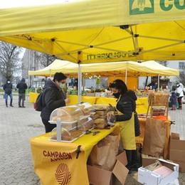 LODI Il riso italiano della solidarietà al mercato Coldiretti di piazza Omegna
