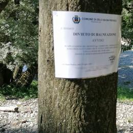 Bagni vietati in Adda, nuovi cartelli lungo il fiume a Zelo