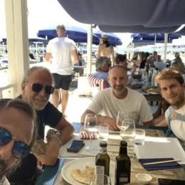 Bresciani pranza con Gilardino