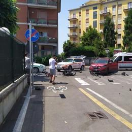CODOGNO Scontro tra un'auto e uno scooter: 17enne portato in elicottero all'ospedale