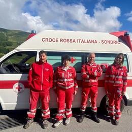 Croce rossa di Lodi in servizio a Livigno per dare una mano con i turisti