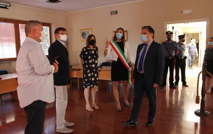 Il prefetto Giuseppe Montella in visita a Mulazzano