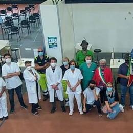 La Festa della Repubblica celebrata  al centro vaccinale di Vizzolo VIDEO