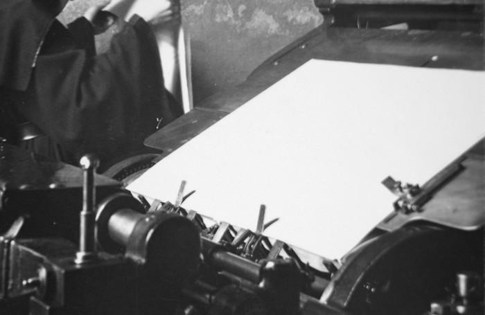 Lavoro in tipografia