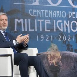 Lorenzo Guerini in Afghanistan per l'ammaina bandiera del contingente italiano