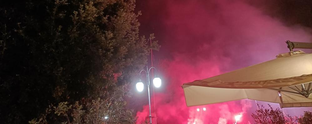 MELEGNANO Fuochi d'artificio accesi in pieno centro
