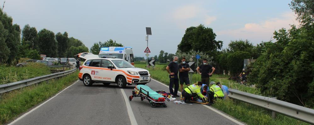 Motociclista di Castiglione resta ferito nel Cremasco