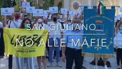 San Giuliano, sindaci e cittadini al flash mob contro le mafie