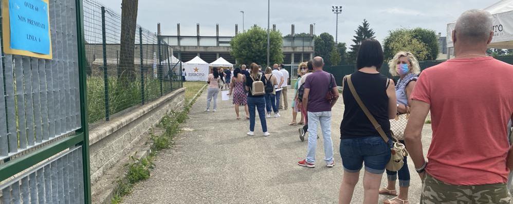 """SANT'ANGELO Centro vaccini del Cupolone """"preso d'assalto"""" per l'Open Day"""