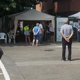 I giovanissimi all'hub di Vizzolo per ricevere il vaccino