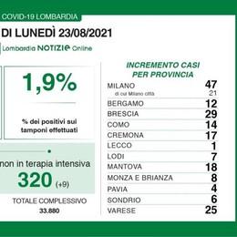 Coronavirus, il bollettino del lunedì: 7  contagi in più nel Lodigiano, 47 nel Milanese, 200 in Lombardia, 4.168 in Italia