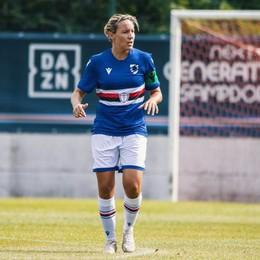 "Tarenzi capitana della Sampdoria tira nel ""sette"" per i match in tv"
