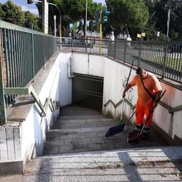 MELEGNANO La Mea ha ripulito il sottopasso che porta al cimitero