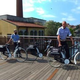 A Melegnano sono arrivati i vigili sulla bicicletta
