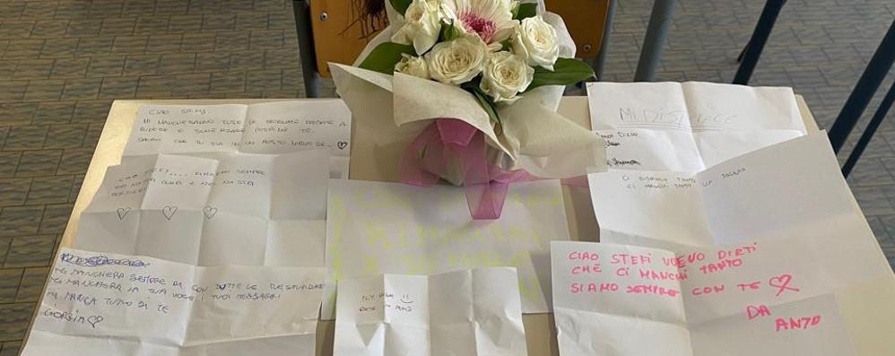 Lodi, all'Einaudi rose bianche e palloncini   per ricordare Stefania uccisa dal papà