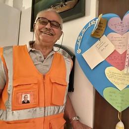 Lodi, l'ultimo nonno vigile lascia dopo undici anni di servizio