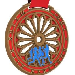 "Ecco la medaglia della ""Laus Half Marathon"""