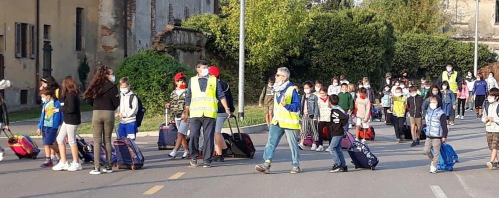 Riozzo, bimbi a scuola a piedi o in bicicletta per la Giornata mondiale senza auto