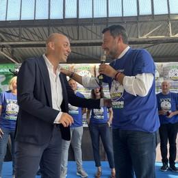 CODOGNO Salvini in piazza per sostenere i candidati sindaci del centrodestra
